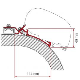 Fiamma adapter Rapido Distinction