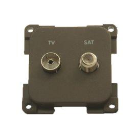Presto TV stekkerdoos + F-connector
