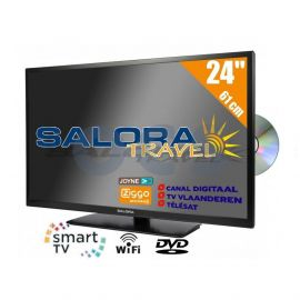 Salora 24 inch Travel TV Smart Wifi DVD
